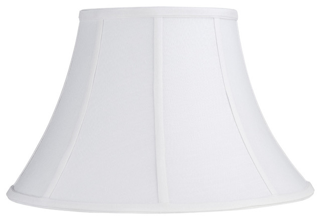 white linen bell clip shade contemporary lamp shades by lighting. Black Bedroom Furniture Sets. Home Design Ideas