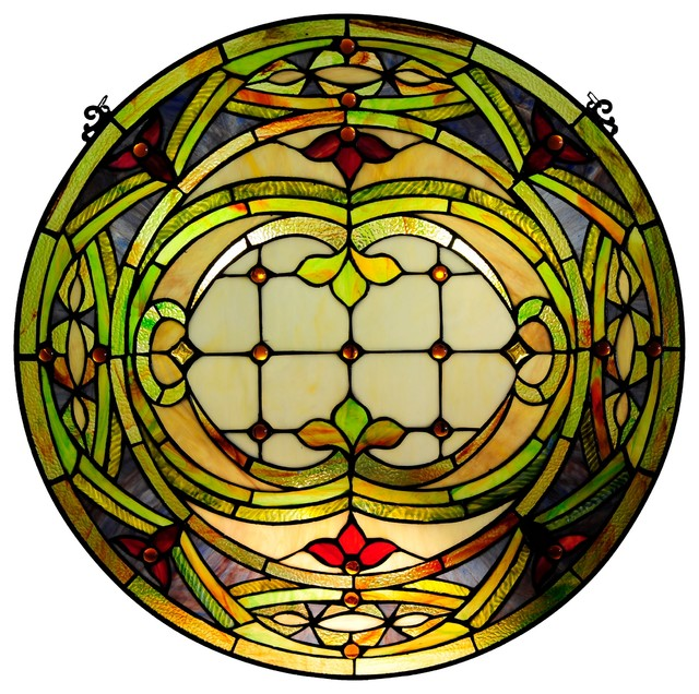 chloe lighting tiffany glass float design window panel
