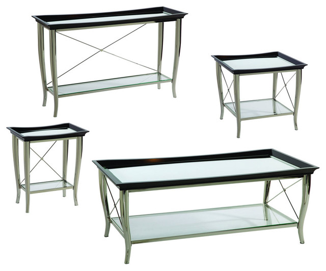 Bassett Mirror T2608 Thaxton 4 Piece Coffee Table Set Contemporary Coffee Table Sets By