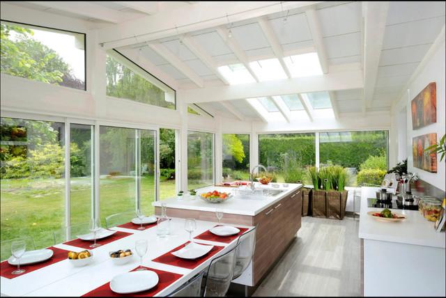 V randa agatha un am nagement moderne esth tique modern sunroom - Amenagement veranda moderne ...