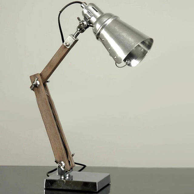 Handmade loft metal and wood table lamp industrial table lamps new orleans by phx lighting - Handmade table lamp ...