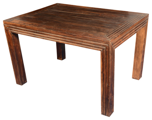 Log Cabin Contemporary Reclaimed Wood 47 Dining Table