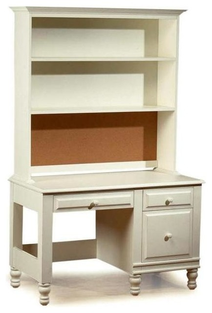 monterey desk and hutch set distressed white traditional desks and hutches by shopladder