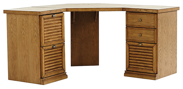 Sommerville Corner Desk with Two 1-Cabinet Credenza - Traditional - Desks And Hutches - by ...
