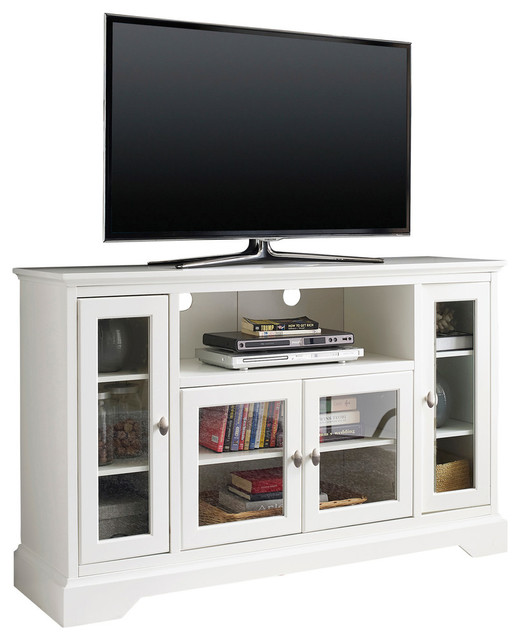 Highboy Entertainment Center, White - Entertainment Centers And Tv Stands - by Walker Edison