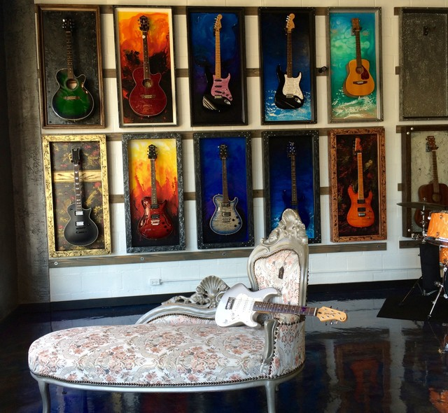 Guitar Display Cases / Shadow Boxes - Modern - other metro - by JeLi's Decor