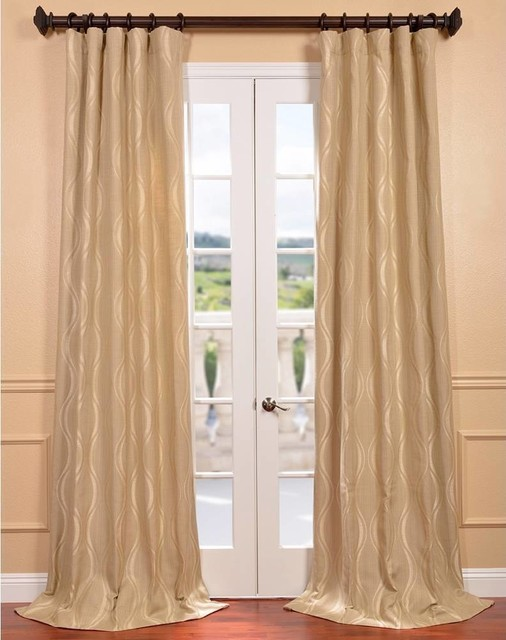 ... Jacquard Curtain Panel - Contemporary - Curtains - by Overstock.com