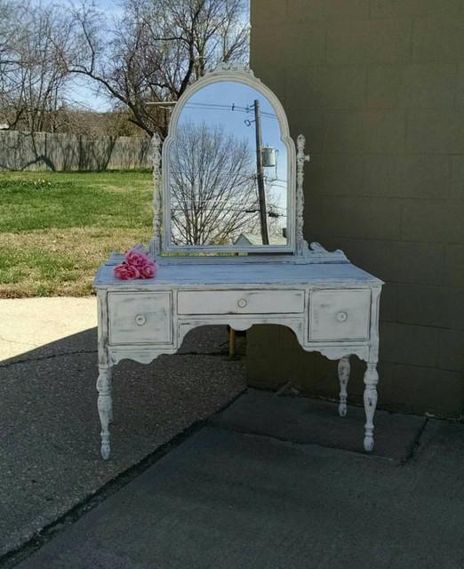 Mirrored Vanity Shabby Chic Farmhouse Bedroom Makeup Vanities