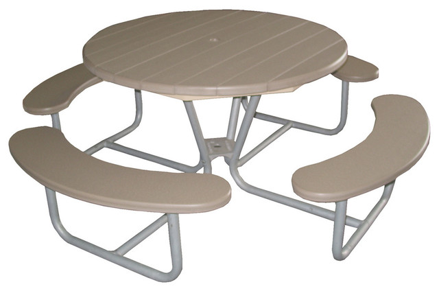 Table Metal Base In Driftwood Contemporary Outdoor Dining Tables