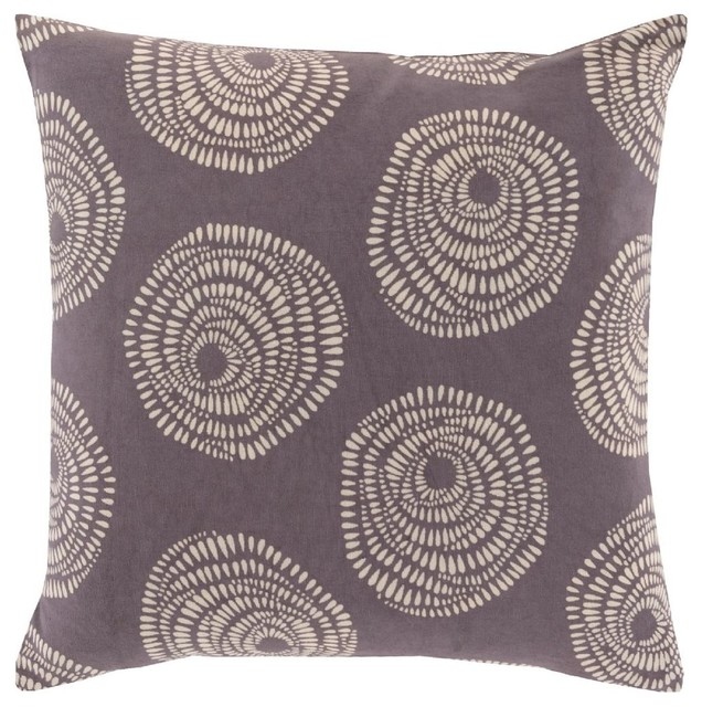 Decorative Pillows Neutral : Country & Floral Sylloda Square Gray-Neutral Decorative Pillow - Contemporary - Decorative ...