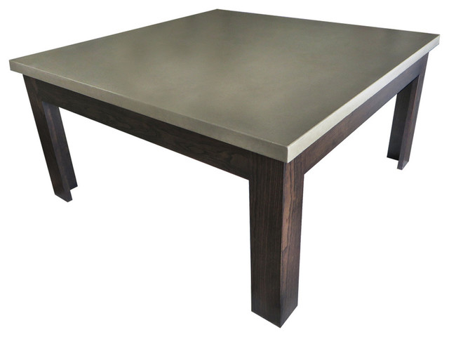 Square concrete coffee table pewter 42x42 coffee for 36x36 coffee table