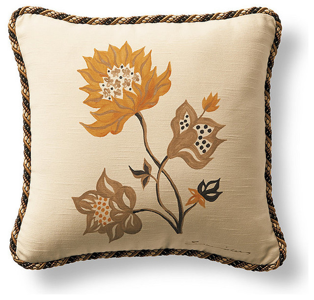 Traditional Decor Pillows : Milano Hand-Painted Decorative Pillow - Traditional - Decorative Pillows - by FRONTGATE
