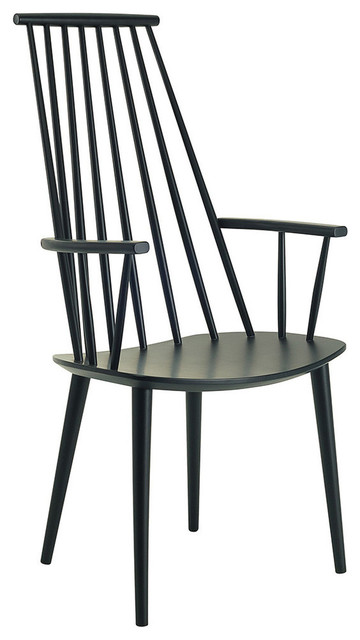 Mid-Century Modern Frost Dining Chair, Black
