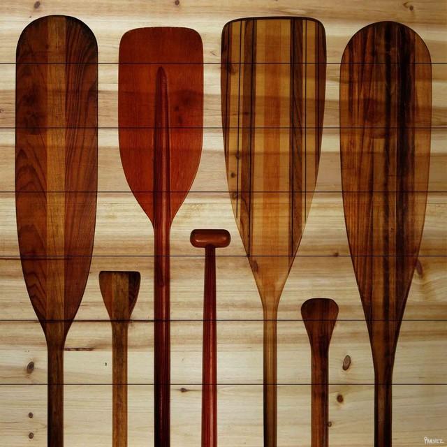 Wood Paddle Wall Decor : Quot paddles wall art on wood x coastal fine