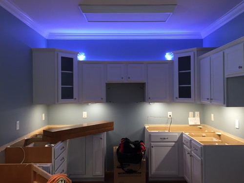 Under over cabinet lighting gone wrong help for Over the counter lighting
