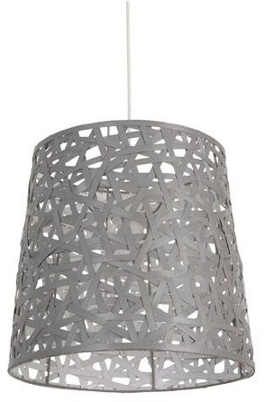 Cymia suspension non lectrifi e bambou d35cm gris eclectic pendant light - Suspension luminaire bambou ...