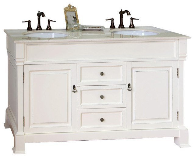 60 Inch Double Sink Vanity-Wood-Cream White - Modern - Bathroom Vanities And Sink Consoles - by ...