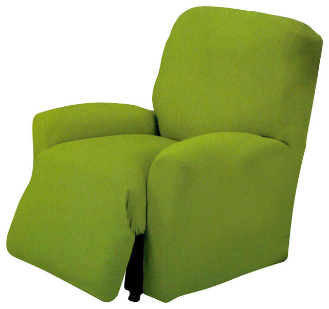 jersey stretch slipcover lime green chair contemporary