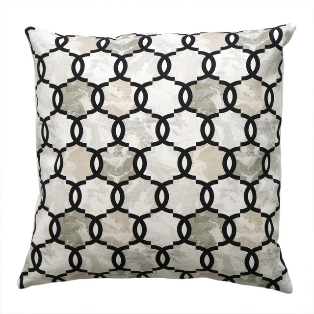 Loop Pillow, Pearl - Modern - Decorative Pillows - by Carley Kahn LLC