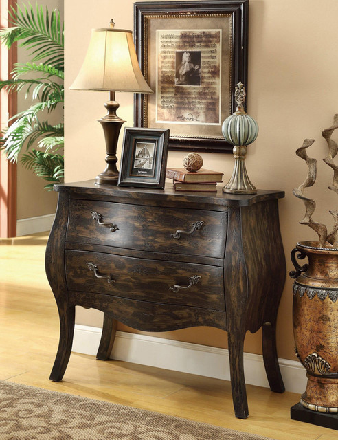 Coaster Traditional Sepia Cabinet with Two Storage Drawers traditional