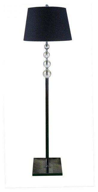 Large crystal floor standing lamps for living room black for Living cameroon uplighter floor lamp black