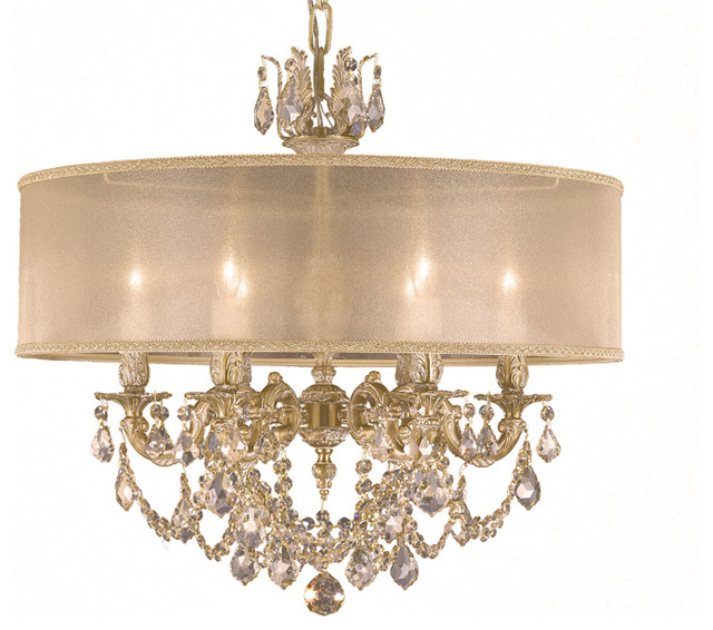 American brass crystal chandelier exclusive for houzz traditional chandeliers by - Traditional crystal chandeliers ...