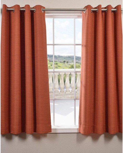 Bellino Grommet Top 63 Inch Blackout Curtain Panel Contemporary Curtains By