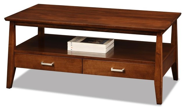 2 Drawers Modern Coffee Table Contemporary Coffee Tables By Shopladder