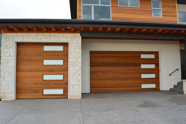 Carriage Garage Door Opener With Contemporary Exterior