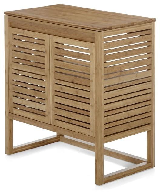 danong meuble de salle de bains en bambou 80cm contemporain console et meuble sous lavabo. Black Bedroom Furniture Sets. Home Design Ideas