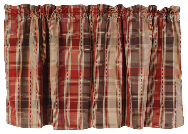 Charming Cooper Red Kitchen Curtain, 36