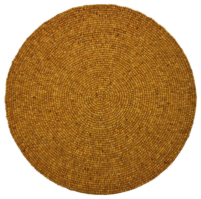 Round Wood Bead Place Mats Contemporary Placemats By