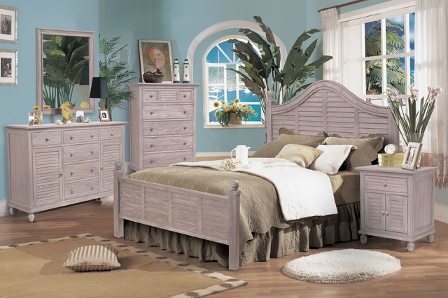 tortuga bedroom collection rustic driftwood finish