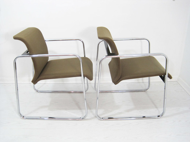 Mid Century Herman Miller Chrome Chair Midcentury Living Room Chairs Ot