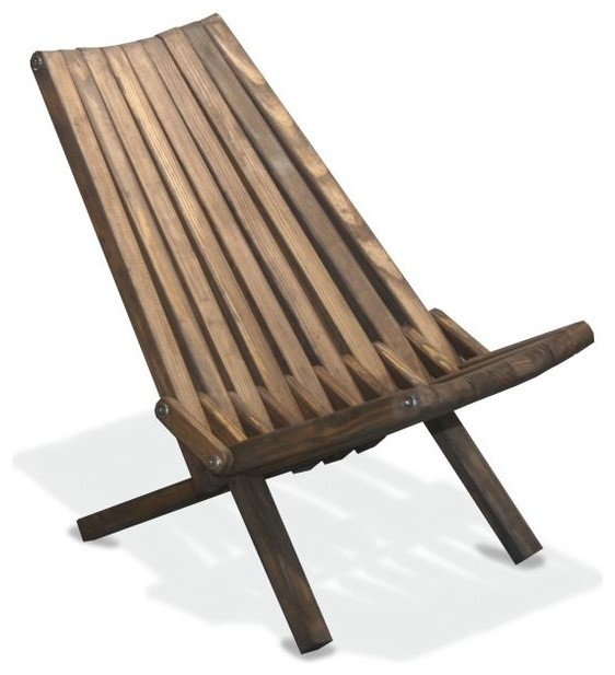 Chair X36 Expresso Brown Modern Folding Garden Chairs by GloDea