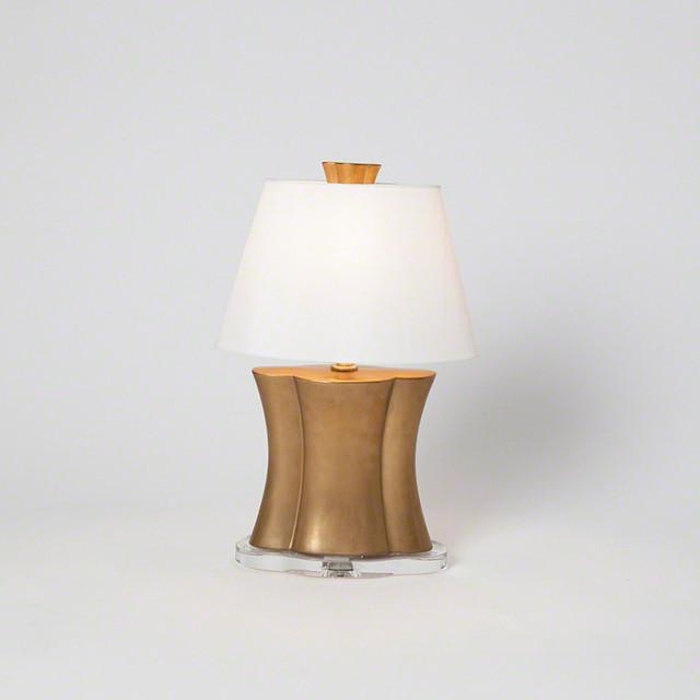 Studio A Quatrefoil Lamp Antique Gold Small