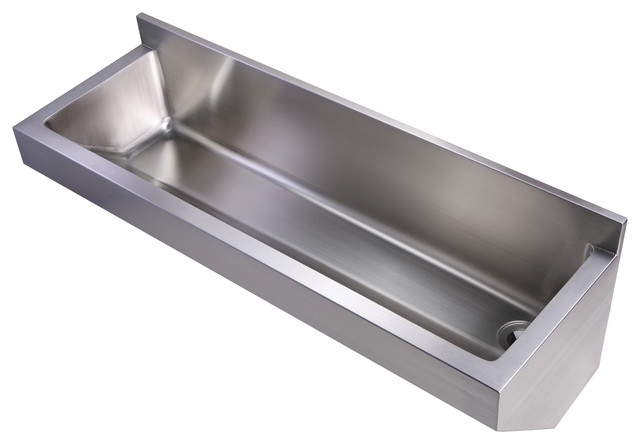 ... Brushed Stainless Steel Commercial Wall Hung Sink modern-utility-sinks