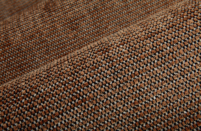 Comfy Chex Upholstery In Teak Traditional Upholstery