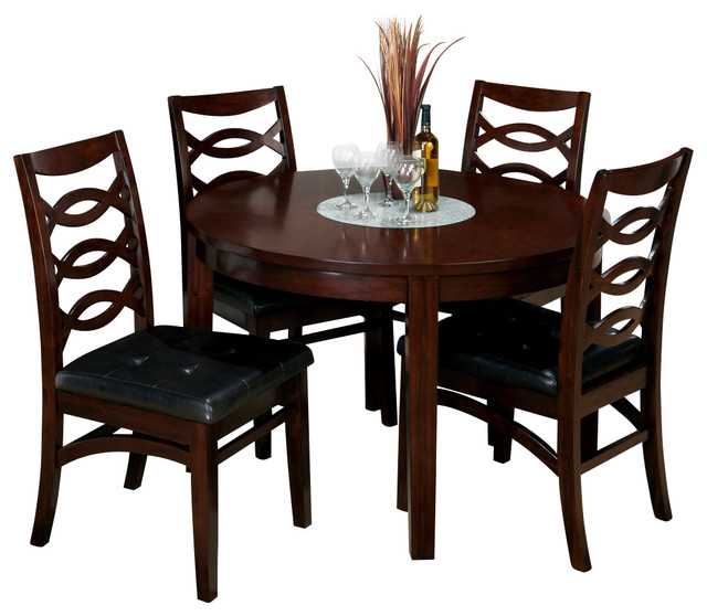 Jofran 863-48 Chadwick 5-Piece Round Dining Room Set In