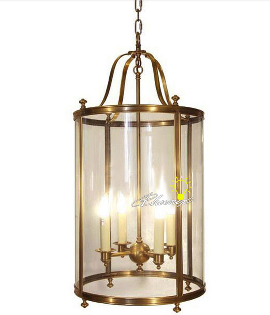 Harbor House Antique Copper and Glass Pendant Lighting Farmhouse Pendant