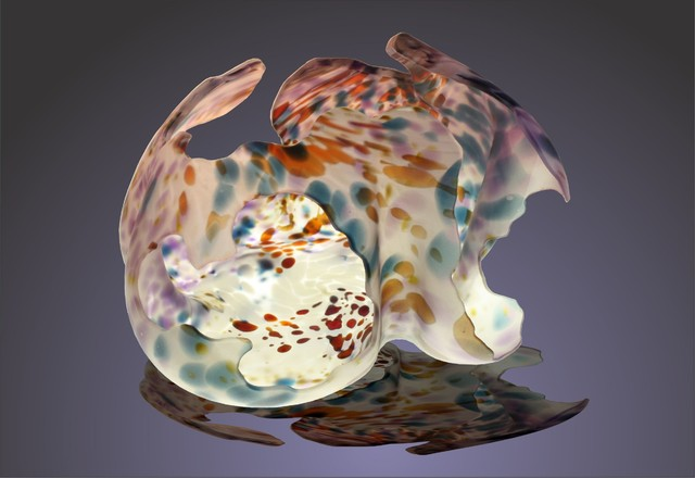 Glass art contemporary sculptures phoenix by for Phoenix glass decorating co