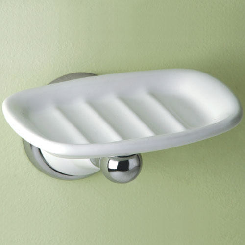 Franciscan soap dish chrome traditional bathroom accessories Traditional bathroom accessories chrome