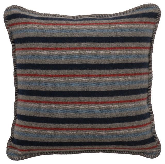 Decorative Pillows Rustic : Nordic Alpine Stripe Pillow - Rustic - Decorative Pillows - by Wooded River Inc
