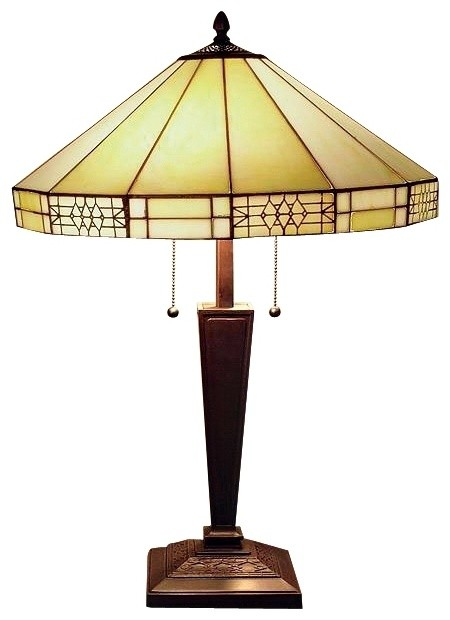 mission motif tiffany style table lamp craftsman table lamps. Black Bedroom Furniture Sets. Home Design Ideas