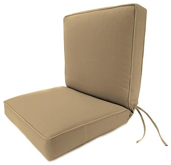 Seat Back Box Edge Outdoor Chair Cushion Traditional Outdoor Cushions And