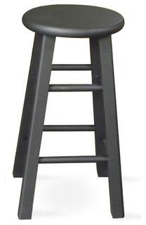 24 quot roundtop counter stool black modern bar stools