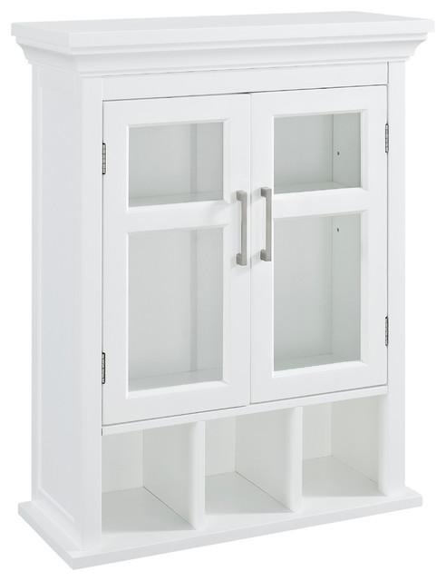 Avington Two Door Wall Cabinet With Cubbies Bathroom