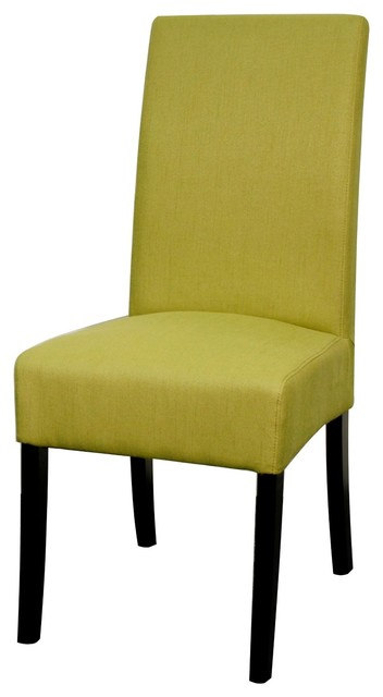 Valencia Fabric Chair Lime Set Of 4 Contemporary Dining Chairs By Soh