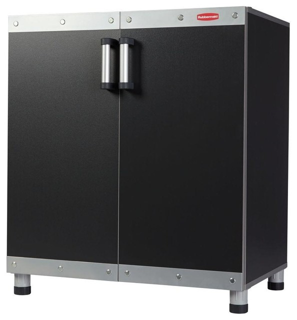 Rubbermaid Cabinets FastTrack 30 in. Garage Base Cabinet in Black ...