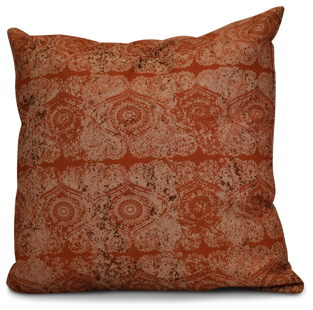 Patina Geometric Print Pillow - Decorative Pillows - by E by Design